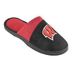 Men's Wisconsin Badgers Scuff Slippers