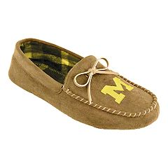 Men's Michigan Wolverines Moccasin Slippers