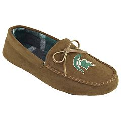 Men's Michigan State Spartans Moccasin Slippers