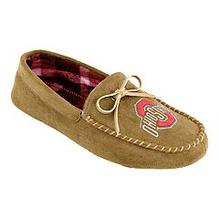 Men's Ohio State Buckeyes Moccasin Slippers