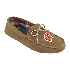 Men's Wisconsin Badgers Moccasin Slippers