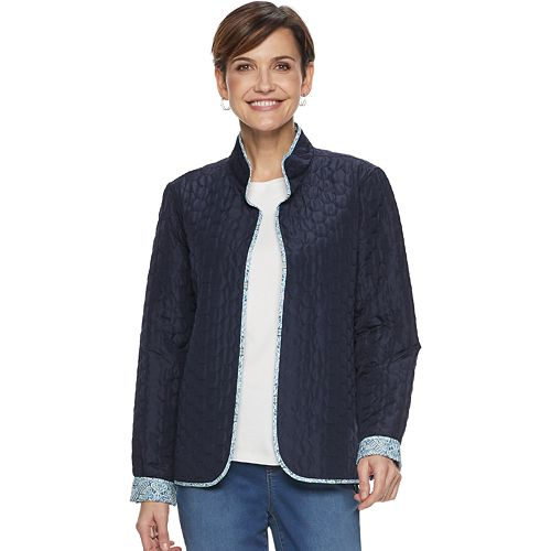 Women's Croft & Barrow® Quilted Reversible Open-Front Jacket
