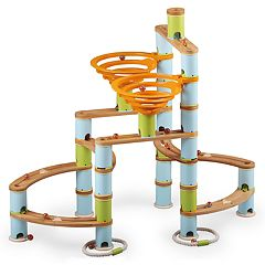 Fat Brain Toys Bamboo Builder Marble Run 168-piece Set