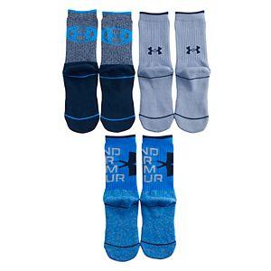Boys Under Armour Phenom 5.0 3-Pack Crew Socks