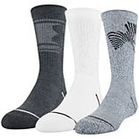 Boys 4-20 Under Armour Phenom 5.0 3-Pack Crew Socks