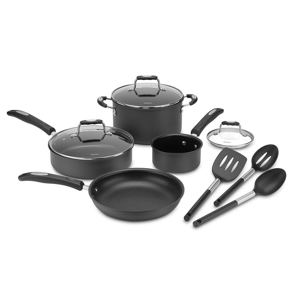 Cuisinart® 10-piece Hard-Anodized Cookware Set