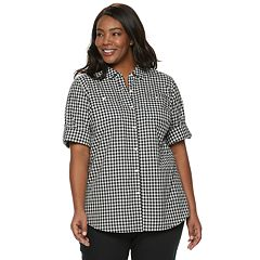 ce563f60 Plus Size Croft & Barrow® Core Shirt. Blue And White Stripe Black And White  Plaid ...