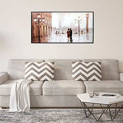New View Gifts Venice Couple Framed Canvas Wall Art