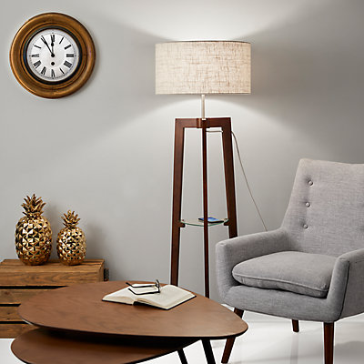 Adesso Henderson Shelf Floor Lamp