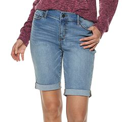 Women's Juicy Couture Midrise Denim Bermuda Shorts