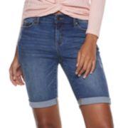 Women's Juicy Couture Midrise Denim Bermuda Shorts