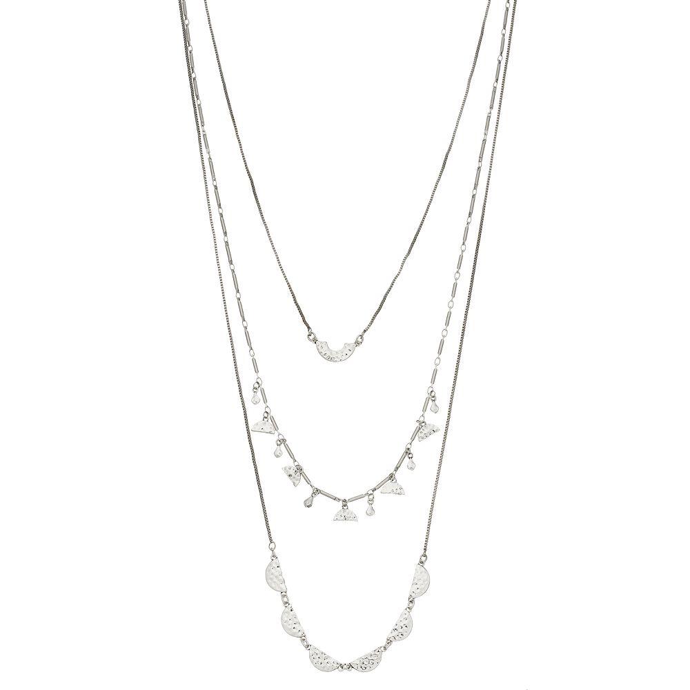 SONOMA Goods for Life® Silver Tone Half Moon Cast Multi Strand Necklace