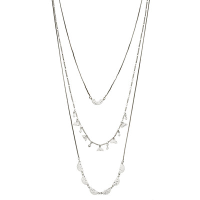 SONOMA Goods for Life? Silver Tone Half Moon Cast Multi Strand Necklace