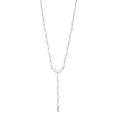 SONOMA Goods for Life? Silver Tone Half Moon Disc Detail Y-Necklace