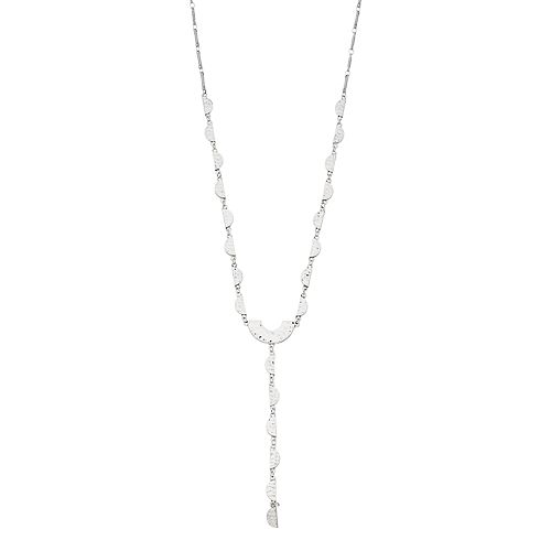 SONOMA Goods for Life® Silver Tone Half Moon Disc Detail Y-Necklace