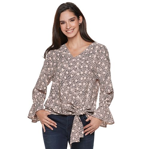 Women's Juicy Couture Tie-Front V-Neck Top