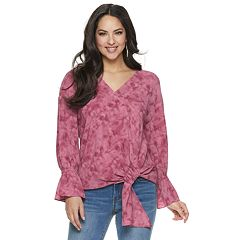 62c3062064 Women s Juicy Couture Tie-Front V-Neck Top