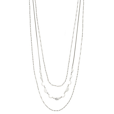 SONOMA Goods for Life? Silver Tone Half Moon Detail Multi Strand Necklace