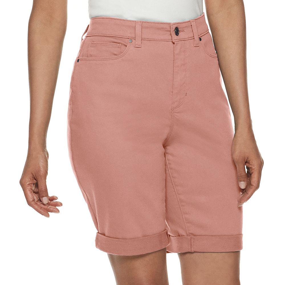 Women's Croft & Barrow® Cuffed Denim Bermuda Shorts