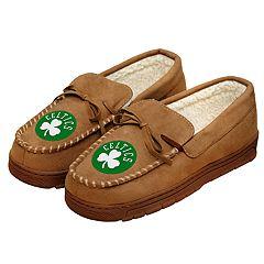 Men's Boston Celtics Team Logo Moccasin Slippers