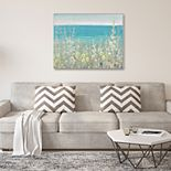 New View Gifts Hollyhocks By The Sea Canvas Wall Art