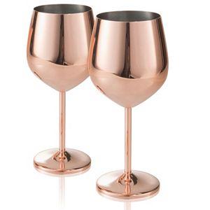Artland Colton Steel Copper Goblet Set
