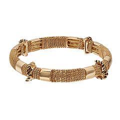 Dana Buchman Gold Tone Stretch Bangle Bracelet
