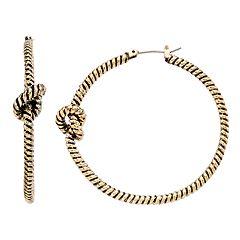 Dana Buchman Textured Knot Hoop Earrings