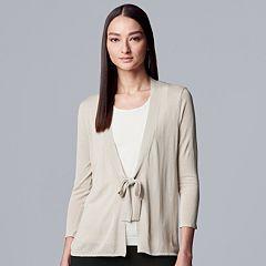 Women's Simply Vera Vera Wang Tie-Front Cardigan