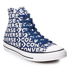 e5204a2b4d9f7a Men s Converse Chuck Taylor All Star Wordmark High Top Shoes. Navy White