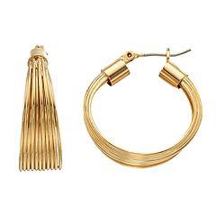 Dana Buchman Layered Hoop Earrings