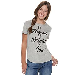 Juniors' Be Happy Be Bright Be You Tee