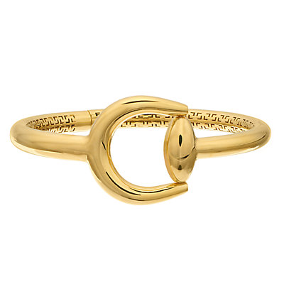 14K Gold Horse Shoe Bangle Bracelet