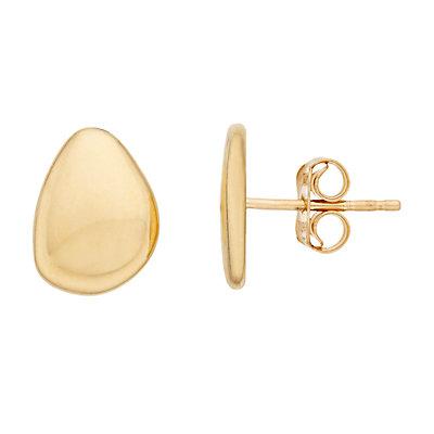 14K Gold Free Shape Earrings