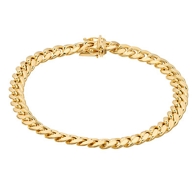 14K Gold Semi Solid Miami Cuban Bracelet