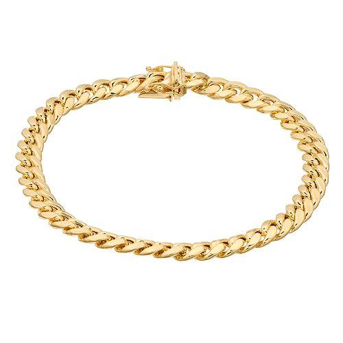 14K Gold Semi Solid Miami Cuban Bracelet