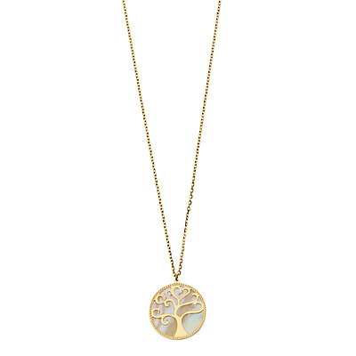 Cultured Pearl Tree of Life Necklace