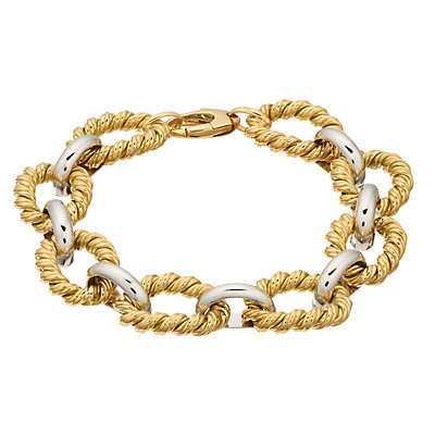 14K Gold Two-Tone Link Bracelet