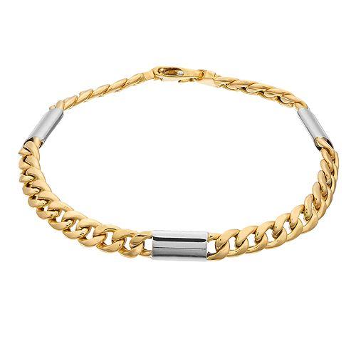 14K Gold Hollow Cuban Bracelet