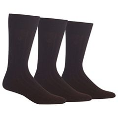 Men's Chaps 3-pk. Ribbed Dress Socks