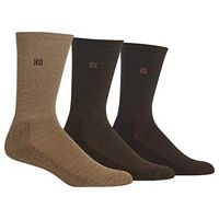 Men's Chaps 3-pk. Cushioned-Sole Ribbed Socks