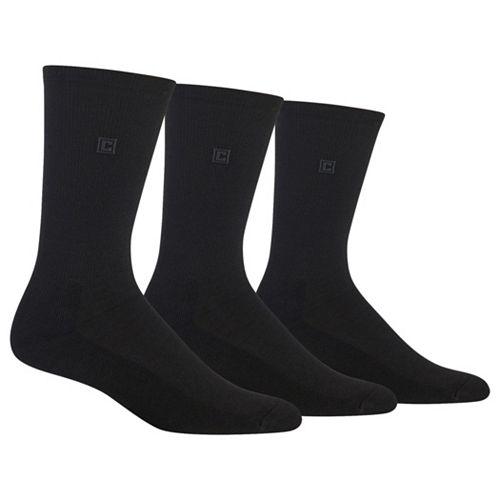 Men's Chaps 3-pk. Cushioned-Sole Ribbed Socks