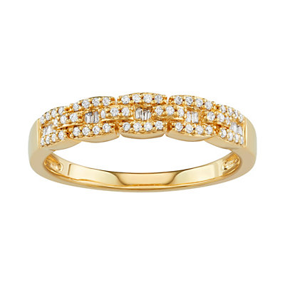 Simply Vera Vera Wang 14kt Gold 1/4 Carat Diamond Band