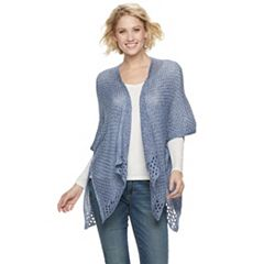 Women's SONOMA Goods for Life™ Marled Crochet Ruana
