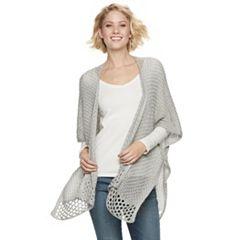 Women's SONOMA Goods for Life™ Marled Crochet Ruana