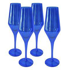 Artland Luster 4-piece Champagne Flute Set