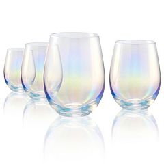 Artland Luster 4-piece Stemless Wine Glass Set