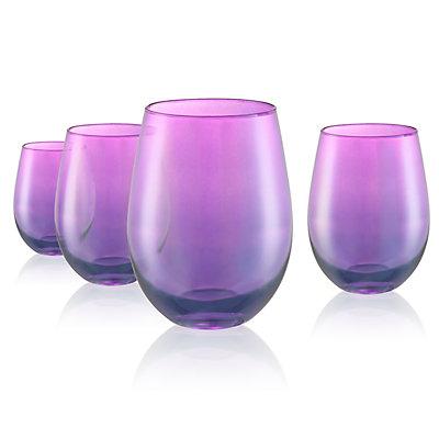 Artland Luster 4-pc. Stemless Wine Glass Set