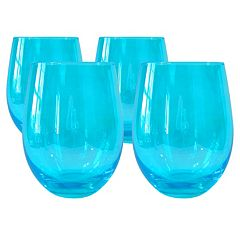 Artland Luster 4-piece Stemless Wine Glass Set