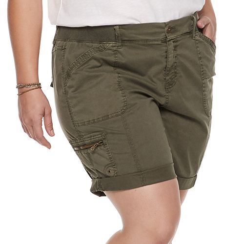 Plus Size SONOMA Goods for Life® Ultra Comfort Waistband Utility Bermuda Shorts